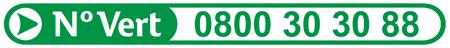 Numéro vert 0800303088